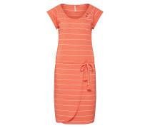 Kleid koralle / weiß