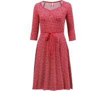 Jerseykleid mischfarben / rot