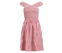 Kleid 'minja' rot / weiß