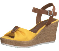 Sandale braun / gelb