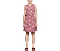 Luftiges Kleid creme / pastellrot