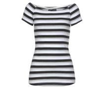 Shirt graumeliert / schwarz / weiß
