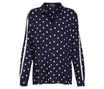Bluse 'Dotted Active' navy / weiß
