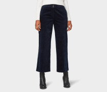 Hose Culotte mit Bügelfalte nachtblau