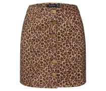 Rock 'Leopard' schwarz / braun