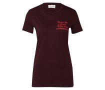 T Shirt 'eden ' burgunder