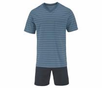 Pyjama kurz Shorty Streifen