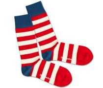 Socken 'Waldo' blau / rot / weiß