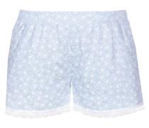 Shorts 'blue Romance' hellblau / weiß