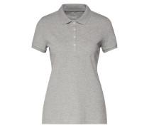 Shirt 'pique Polo' graumeliert