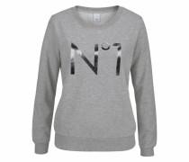 Sweatshirt 'Meline' graumeliert