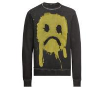 Sweatshirt 'Smiley Crew' gelb / schwarz