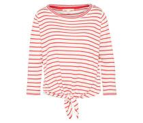 Sweater 'striped' rot / weiß