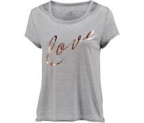 Yana T-Shirt Damen gold / graumeliert