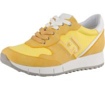 Sneaker Low 'Gigi' gelb / weiß