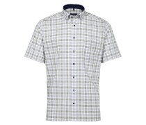 Kurzarm Hemd Modern FIT blau / grün / weiß