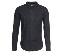 Hemd 'western' black denim