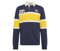Shirts 'porter' dunkelblau / gelb