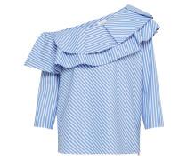 Bluse blau / weiß