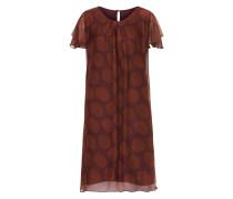 Kleid braun / rotviolett