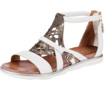T-Steg-Sandalen weiß