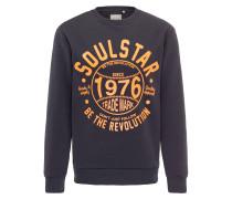 Pullover nachtblau / orange