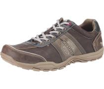Sneakers Low braun / hellbraun / weiß