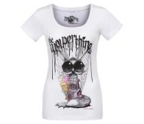 Shirt 'Wolpermadl' mischfarben / weiß