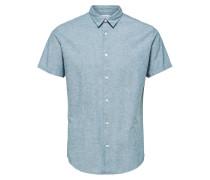Klassisches Kurzarmhemd rauchblau