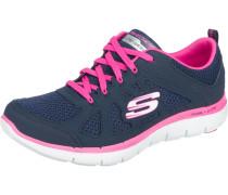 Sneaker enzian / neonpink / weiß