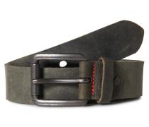 Ledergürtel im Vintage-Look schwarz
