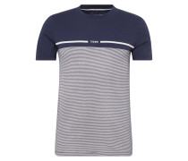 T-Shirt 'Tee with cutline and stripe'