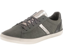 Sneakers 'Miana Lace up' grau / silber