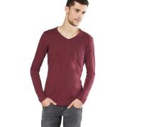 Shirt 'aqua v-neck' weinrot