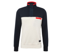 Sweatshirt 'blocked Nylon HZ Mock'