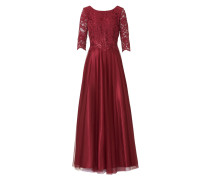 Abendkleid burgunder