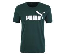 Shirt 'ess Logo Tee' dunkelgrün / weiß