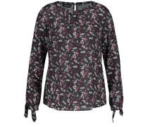 Bluse Langarm Blusenshirt mit Floral-Print
