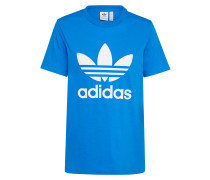 T-Shirt 'trefoil' blau / weiß