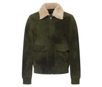 Lederjacke 'Suede pilot jacket' oliv