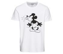 T-shirt 'Anton' schwarz / weiß
