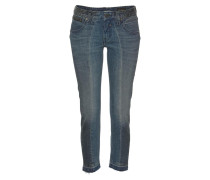 Jeans 'Touch Cropped' taubenblau