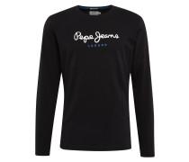Shirt 'eggo Long' schwarz / weiß