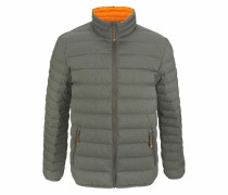 Steppjacke khaki / orange