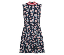 Kleid 'ribcollar' nachtblau / rosa
