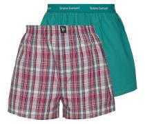 Boxershorts grün / rosé