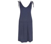 Jerseykleid dunkelblau / weiß