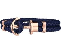 Armband 'Anker' dunkelblau / gold