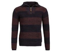 Pullover 'tosca' weinrot / schwarz