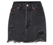 'deconstructed' Jeans Rock black denim